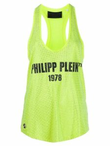 Philipp Plein logo embellished tank top - Yellow