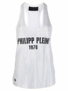 Philipp Plein logo embellished tank top - White