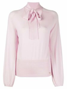 Temperley London tied neck jumper - PINK