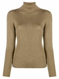 Temperley London metallic roll neck jumper - GOLD