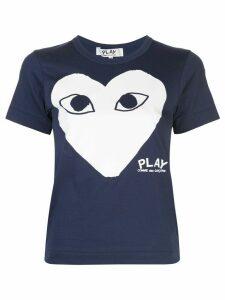 Comme Des Garçons Play printed T-shirt - Blue