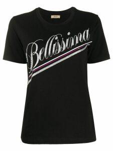 LIU JO short sleeve crystal-embellished T-shirt - Black