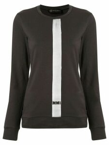 Mr & Mrs Italy stripe detail logo sweatshirt - Grey