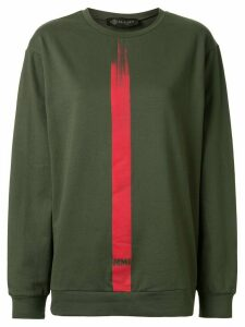 Mr & Mrs Italy stripe detail logo sweatshirt - Green
