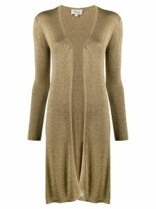 Temperley London metallic open-front cardigan - GOLD