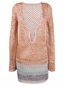 Emilio Pucci open knit jumper - ORANGE