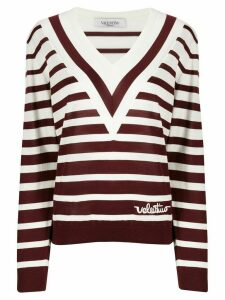 Valentino Valentino Signature striped jumper - Red