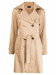 LIU JO double-breasted belted trench coat - NEUTRALS