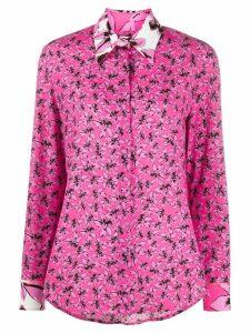 Iceberg floral-print regular-fit shirt - PINK