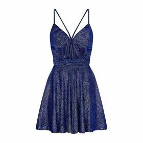 HASANOVA - Royal Blue Sparkles Mini Playsuit