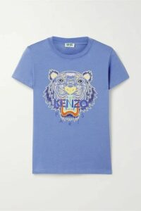 KENZO - Printed Cotton-jersey T-shirt - Blue