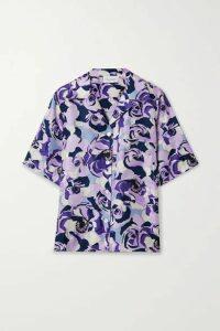 Art Dealer - Floral-print Silk-satin Twill Shirt - Purple