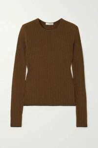 Vince - Ribbed Cashmere Sweater - Army green