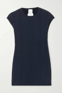 Max Mara - Leisure Road Ribbed-knit Top - Navy
