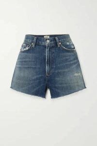 Citizens of Humanity - Kristen Frayed Denim Shorts - Mid denim