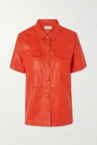 Stand Studio - Danna Leather Shirt - Red