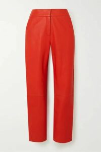 Stand Studio - Zoe Leather Straight-leg Pants - Red