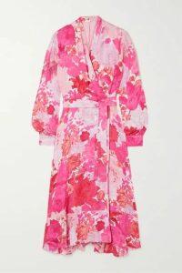 Stine Goya - Reflection Floral-print Modal And Silk-blend Wrap Dress - Pink