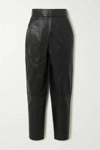 Johanna Ortiz - Crossing Legacies Leather Tapered Pants - Black