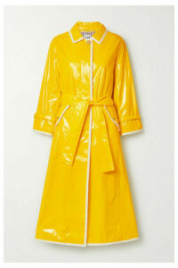 Thom Browne - Belted Glossed-pu Trench Coat - Yellow
