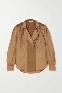 FRAME - Paneled Cotton-twill Shirt - Beige