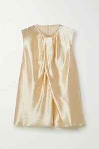 The Row - Shira Hammered-satin Top - Ivory