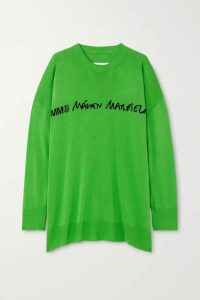 MM6 Maison Margiela - Oversized Intarsia Knitted Sweater - Green