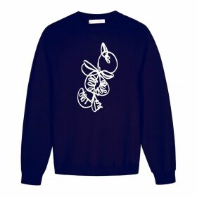 Berta Cabestany - Calabaza Embroidered Navy Sweat
