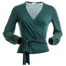 AVANI Apparel - Wrap-Over Top Séquoia Dark Green