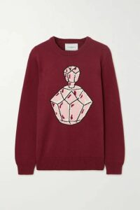 Casablanca - Intarsia Cotton Sweater - Burgundy