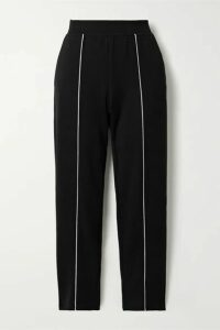 ATM Anthony Thomas Melillo - Piped Jersey Track Pants - Black