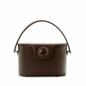 A.Cloud - Hal Circle Dot Bucket Bag - Chocolate