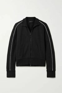 ATM Anthony Thomas Melillo - Piped Jersey Track Jacket - Black