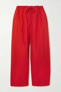 Comme des Garçons GIRL - Cropped Shell Straight-leg Pants - Red