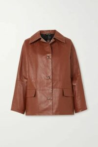 Kassl Editions - Reversible Leather Jacket - Brown