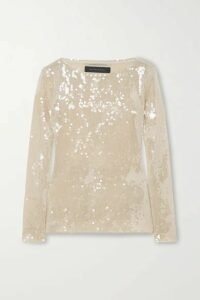 Roland Mouret - Mosta Cutout Sequined Tulle Top - Gold