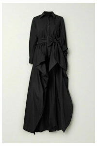 Brandon Maxwell - Asymmetric Cotton-poplin Jacket - Black