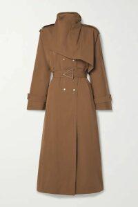 Bottega Veneta - Belted Double-breasted Cotton-blend Gabardine Trench Coat - Light brown