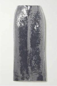 Roland Mouret - Nobel Sequined Jersey Midi Skirt - Navy