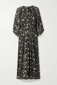 Isabel Marant Étoile - Estine Ruffled Floral-print Crepon Maxi Dress - Black