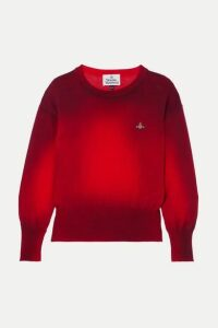 Vivienne Westwood - Spray Paint Embroidered Cotton Sweater - x large