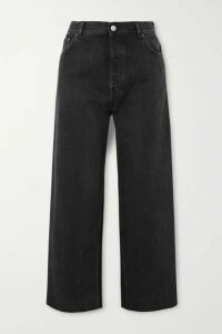 Balenciaga - Tube Cropped Low-rise Straight-leg Jeans - Black
