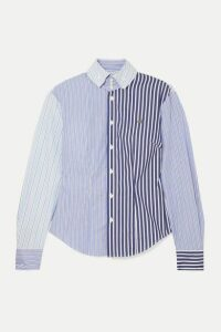 Vivienne Westwood - Krall Paneled Striped Cotton-poplin Shirt - Light blue