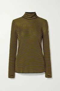 Petar Petrov - Kristin Striped Knitted Turtleneck Sweater - Black