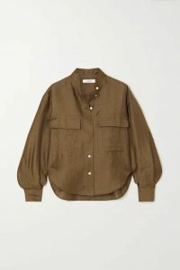 FRAME - Safari Linen-blend Shirt - Green
