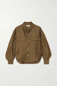 FRAME - Safari Linen-blend Shirt - Green