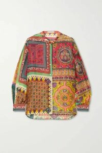 Etro - Printed Cotton And Silk-blend Shirt - Red