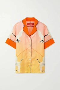 F.R.S For Restless Sleepers - Bendis Printed Silk-twill Shirt - Pastel pink