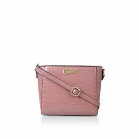 Carvela Donnie Small Cross Body - Pink Croc Effect Cross Body Bag