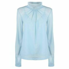 Victoria Beckham Long Sleeve Sheer Shirt